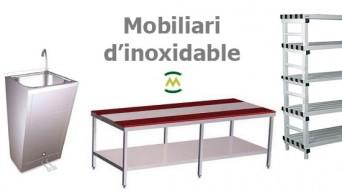 Mobiliari d'inoxidable, alumini i pvc