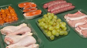 Safates pet per a carn, peix, fruita i hortalisses