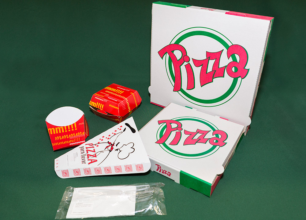Cajas para pizza y envases to take away omipack miracle global - Envases take away ...