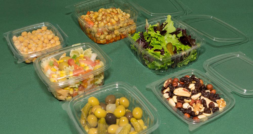 Envases pet ensaladera con tapa bisagra omipack miracle global - Envases alimentos ...
