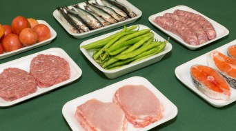 Safates porex per a carn, peix, fruita